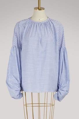 Stella Jean Blusa Manica Lunga cotton top