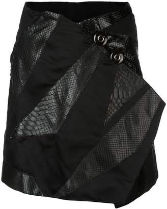 Rubin Singer Origami skirt with python detail