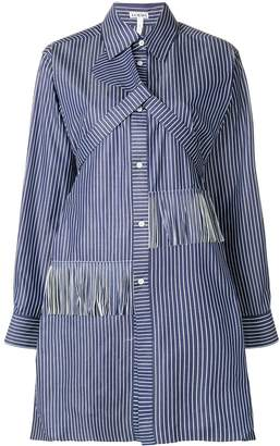 Loewe fringed striped shirt dress