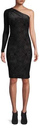 Calvin Klein Glitter One-Shoulder Sheath Dress