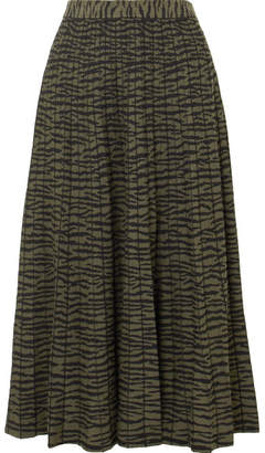 Proenza Schouler Pleated Jacquard-knit Midi Skirt