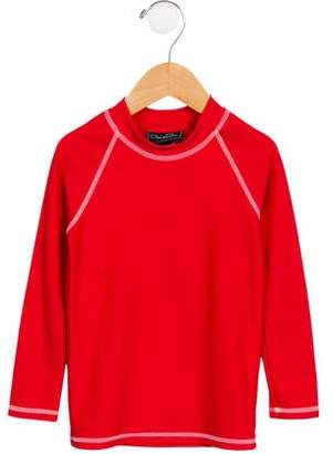 Oscar de la Renta Boys' Raglan Sleeve Athletic Shirt