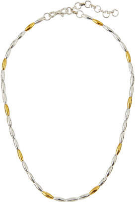 """Gurhan Wheat Two-Tone Beaded Necklace, 16""""L"""
