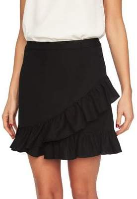 1 STATE 1.STATE Ruffled Edge Mini Skirt