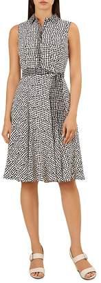 Hobbs London Belinda Sleeveless Dot-Print Dress