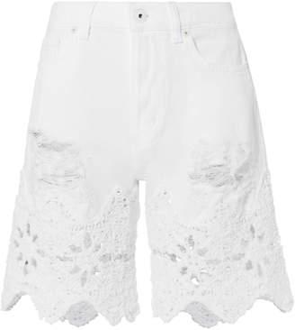 Jonathan Simkhai Macrame Denim Walking Shorts