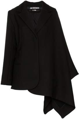 Jacquemus single-breasted drop shoulder wool jacket