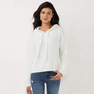 0ea5331576584 Lauren Conrad Women s Eyelash Hooded Sweater