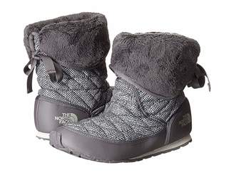 The North Face ThermoBalltm Roll-Down Bootie II (TNF Black Jumbo Herringbone Print/Plum Kitten Grey