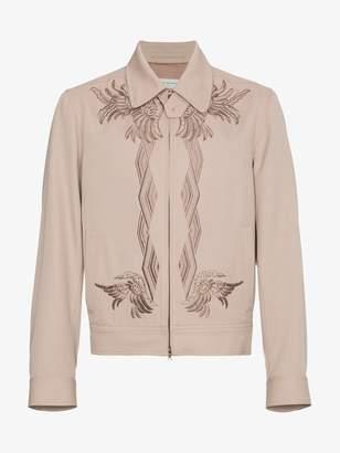 Dries Van Noten Wool Valerian embroidered bomber jacket