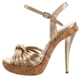 Michael Kors Metallic Knot-Accented Sandals