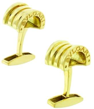 Bulgari 18K Yellow Gold Cufflinks