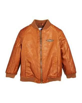 Mayoral Vintage Aviator Faux-Leather Jacket, Size 12-36 Months