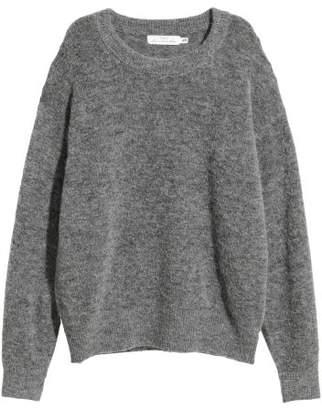 H&M Fine-knit Wool-blend Sweater - Black