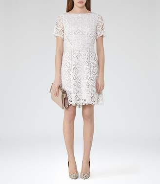 Reiss Eleania Lace Fit And Flare Dress