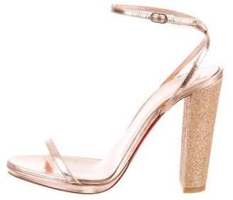 Christian Louboutin Metallic High-Heel Sandals