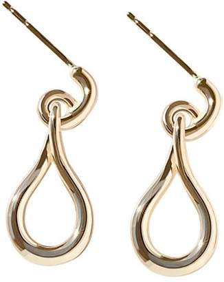 Shinola 14K Yellow Gold Lug Single Drop Earrings