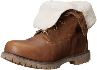 Timberland Womens Authentics 6 Inch Teddy Fleece Leather Boots 8.5 US