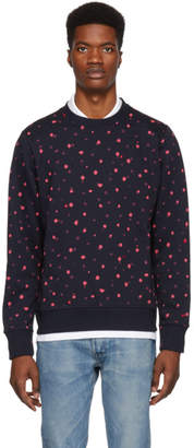 Paul Smith Navy Ink Spot Sweatshirt