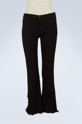J Brand Black super flare jeans