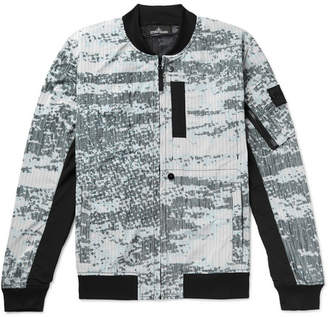 Stone Island Shadow Project Logo-Appliqued Printed Ripstop Bomber Jacket