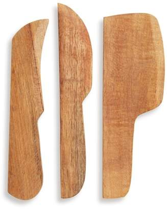 Treasure & Bond Set of 3 Wooden Cheese Spreaders