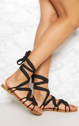PrettyLittleThing Multi Print Ghillie Lace Up Sandal