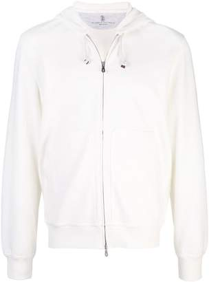 Brunello Cucinelli hooded zip-up jacket