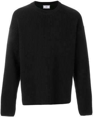 Ami Alexandre Mattiussi Crewneck Oversize Fit Double Face Rib Sweater