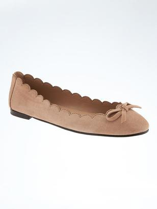 Scalloped Robin Ballet Flat $98 thestylecure.com