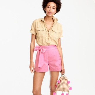 Tie-waist short in cotton poplin $69.50 thestylecure.com