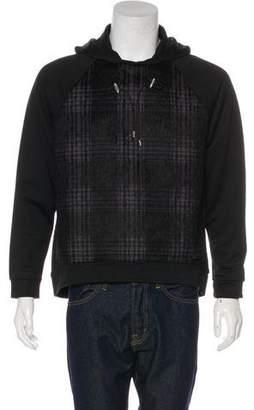 Giorgio Armani Plaid Mohair & Wool-Trimmed Hoodie