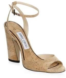 Jimmy Choo Cork Heel Sandals