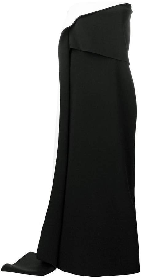 strapless two-tone dress