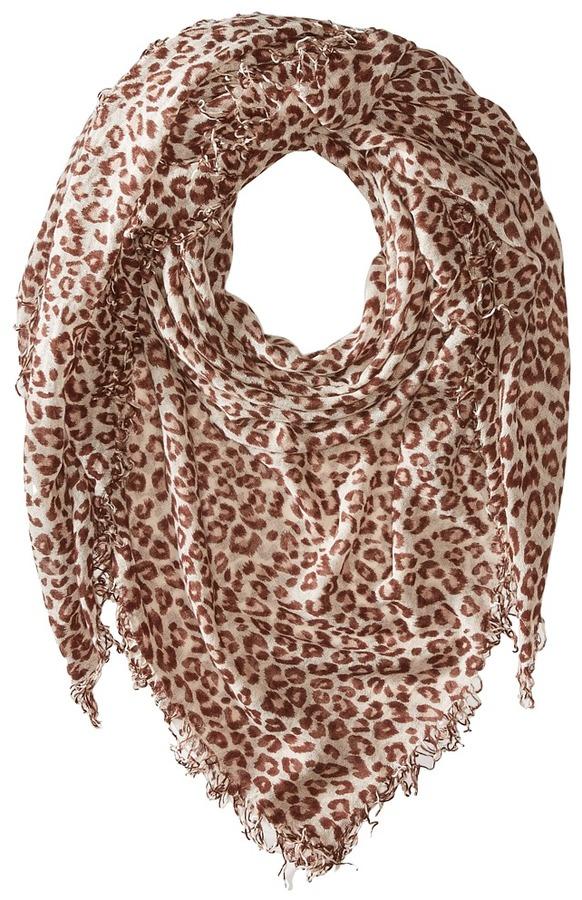 Chan LuuChan Luu Leopard Cashmere and Silk Scarf