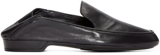 Robert Clergerie Black Leather Fani Loafers $495 thestylecure.com