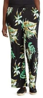 Lauren Ralph Lauren Plus Printed Wide-Leg Pants