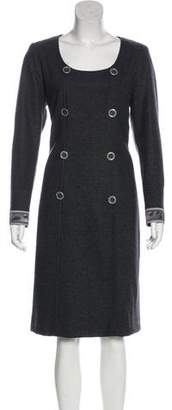 Leonard Wool Long Sleeve Midi Dress