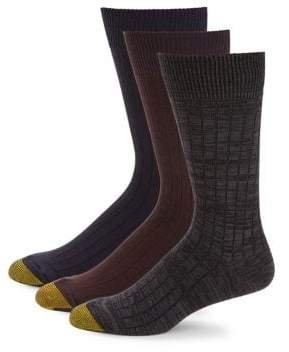 Gold Toe Goldtoe Three-Pack Johnny Rib Socks