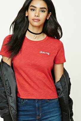 FOREVER 21+ Babes Only Embroidered Tee $8.90 thestylecure.com