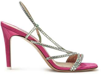 ATTICO Baby crystal-embellished sandals