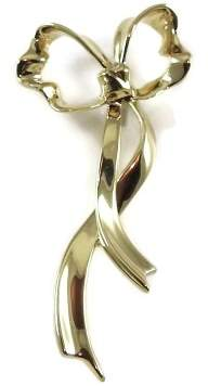 Tiffany & Co. 18K Yellow Gold Bow Pin Brooch