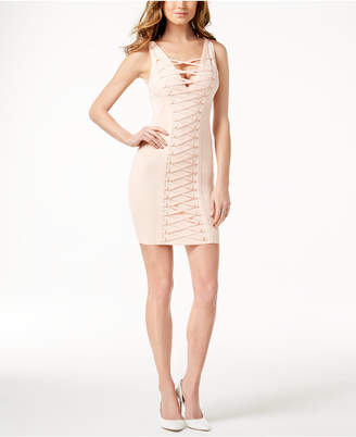GUESS Mirage Lace-Up Bodycon Dress
