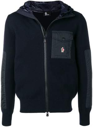 Moncler knit hooded jacket