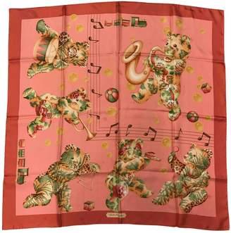 Salvatore Ferragamo Vintage Pink Silk Silk handkerchief