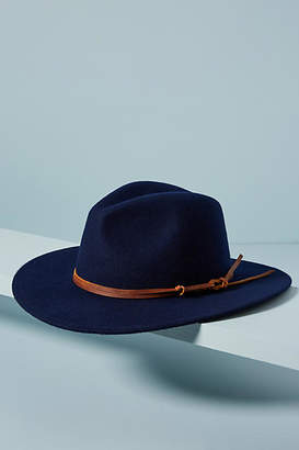 Wyeth Leather-Trimmed Fedora