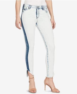 William Rast High-Waisted Embroidered Skinny Jeans
