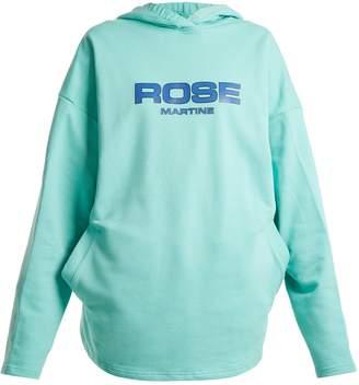 Martine Rose Logo-print oversized hooded cotton sweatshirt