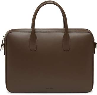Mansur Gavriel Calf Small Briefcase - Chocolate