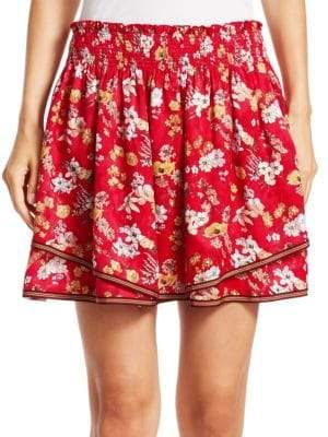 Derek Lam 10 Crosby 2-in-1 Floral Skirt
